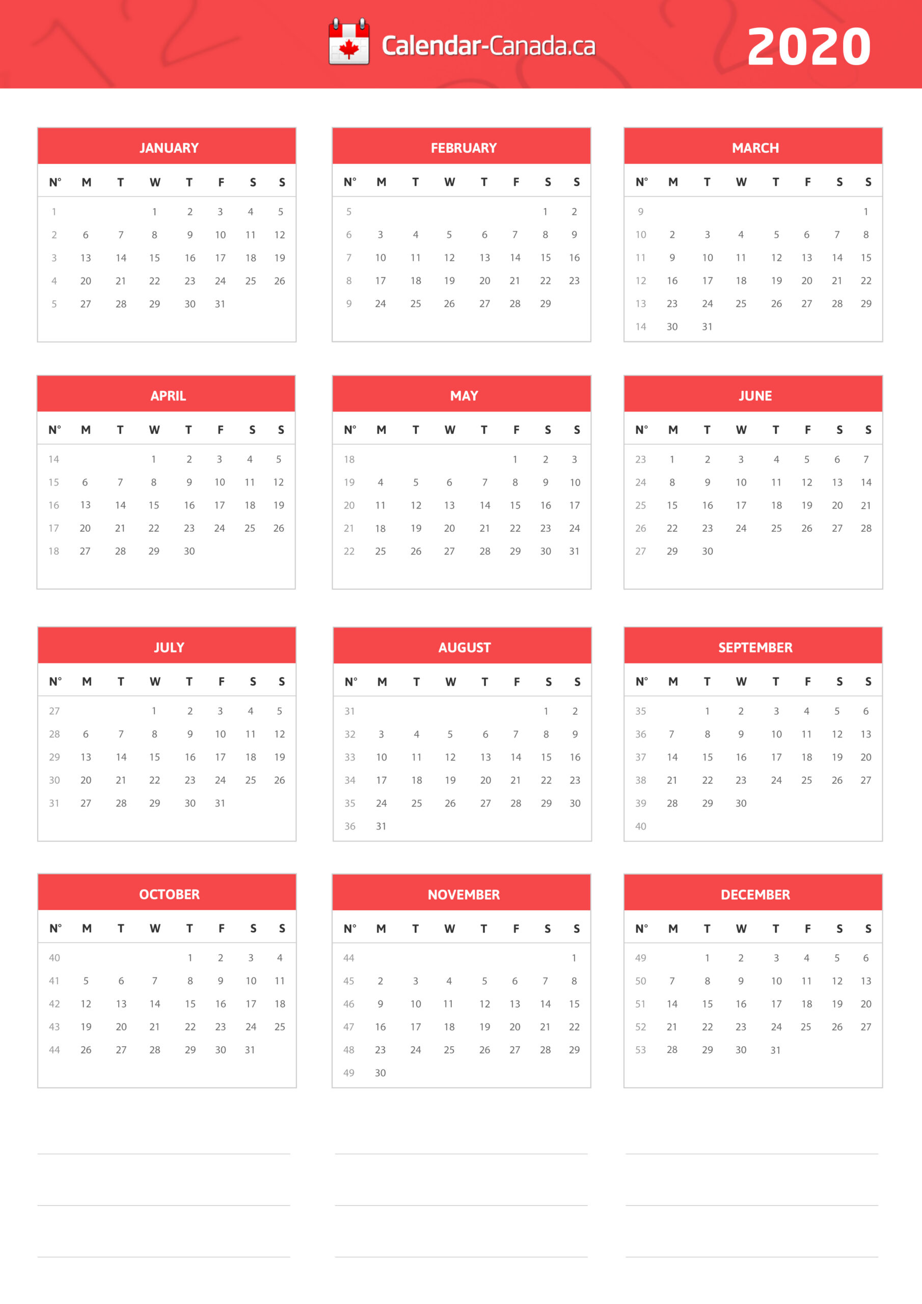 2021 Calendar With Holidays In Ontario