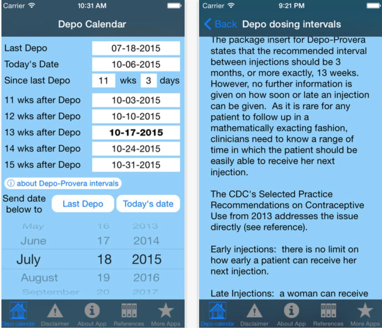 2021 Deprovera Printable Calendar