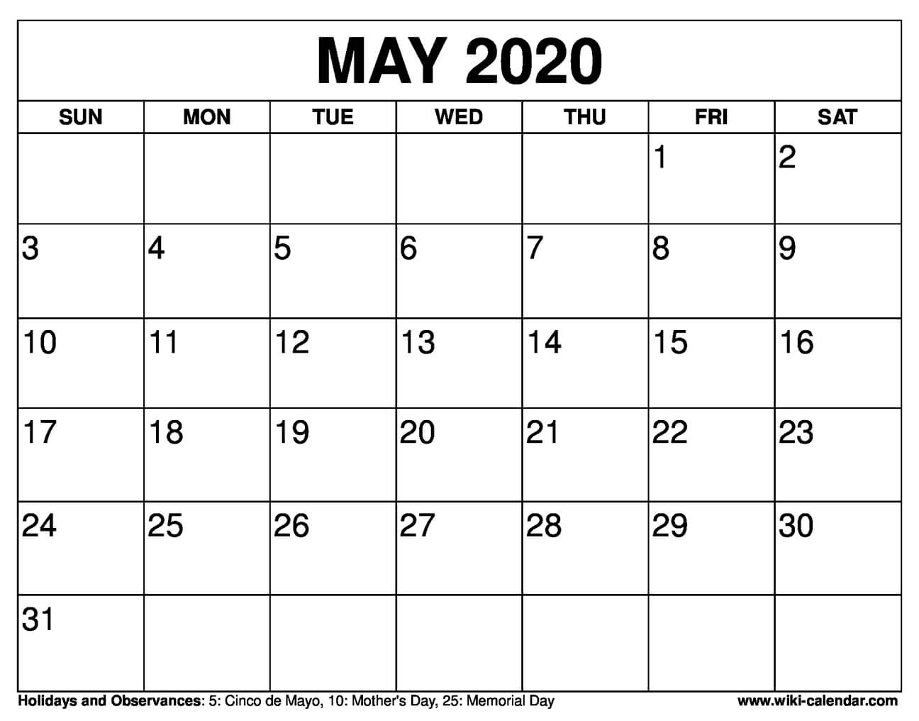 2021 May And June Calendar Printable Free
