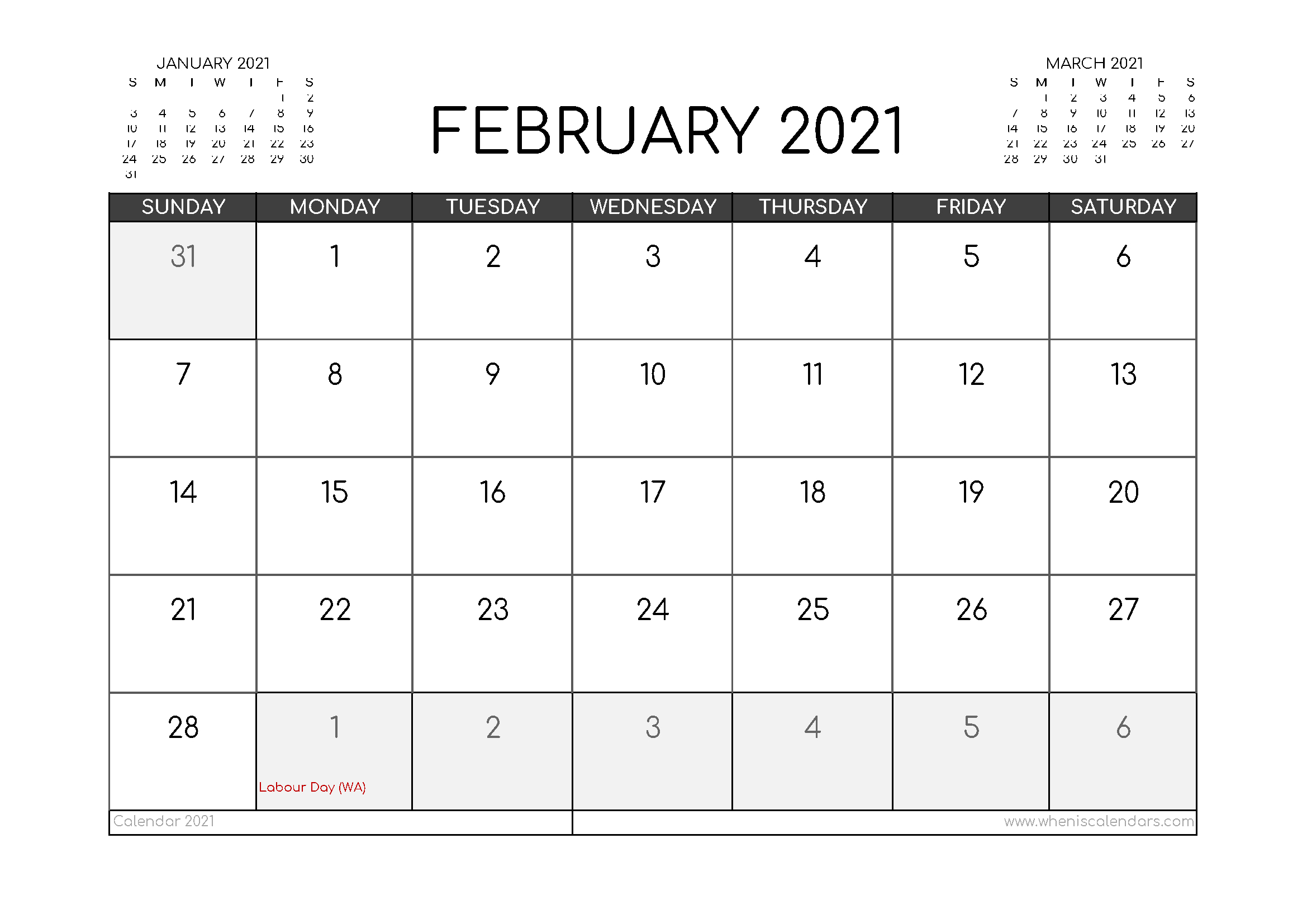 2021 Printable Calendar Australia By Month