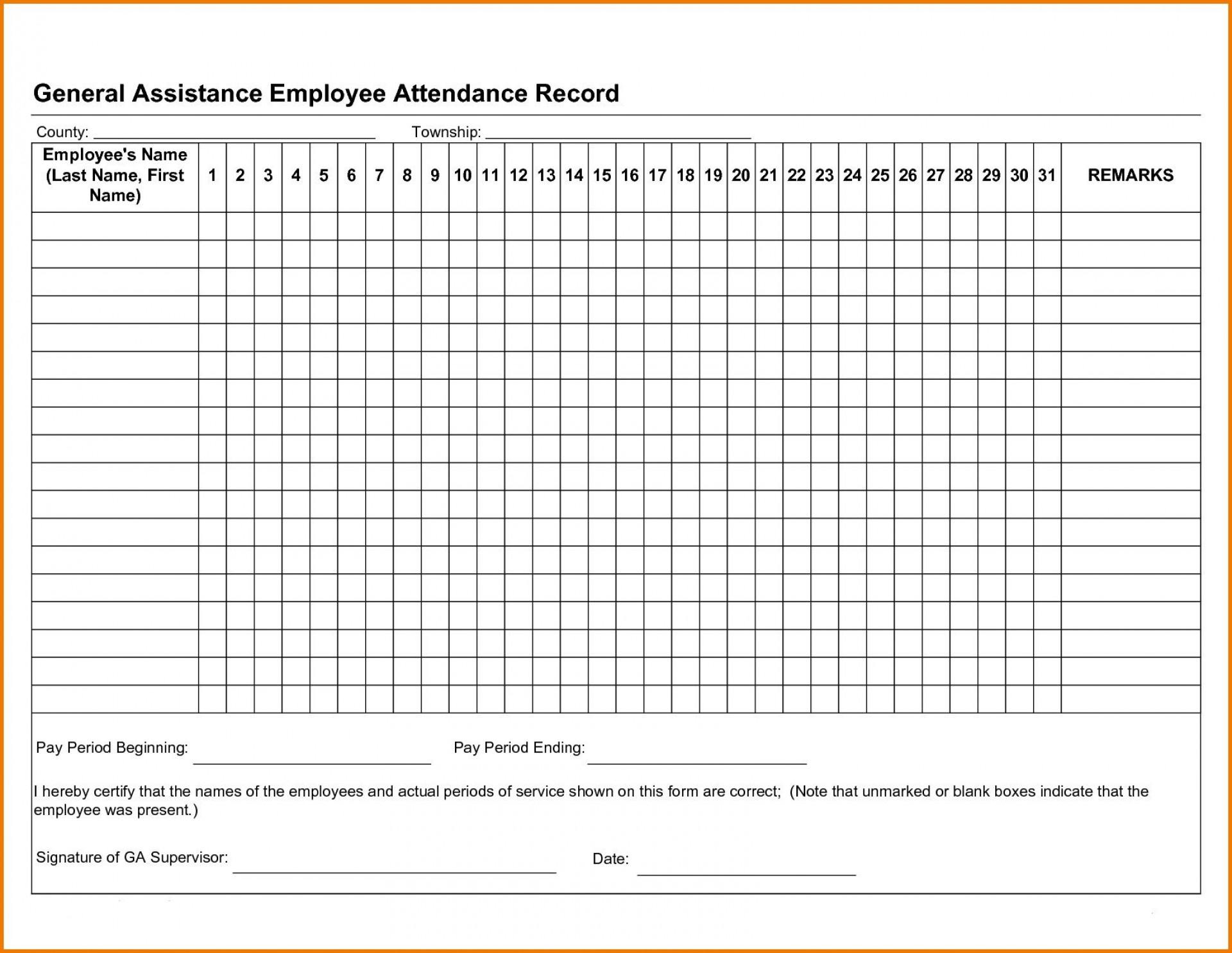2021 Printable Free Attendance Tracker