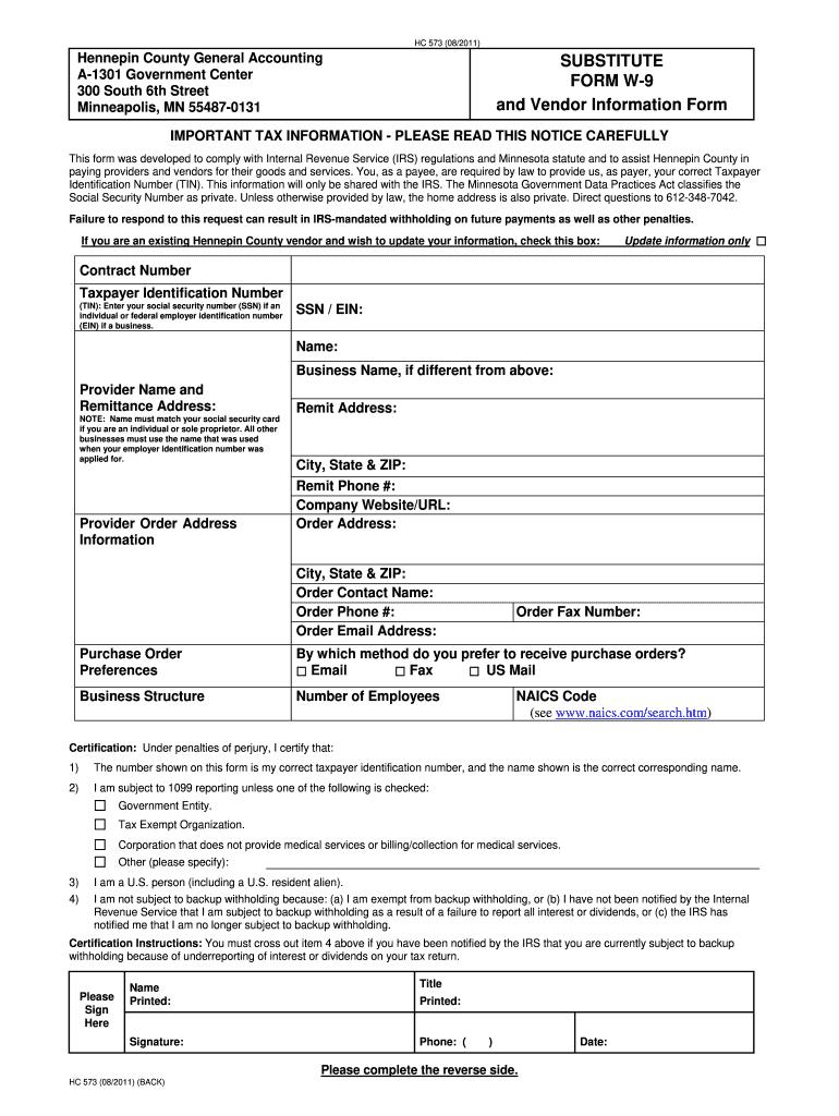 2021 W-9 Form Printable Pdf