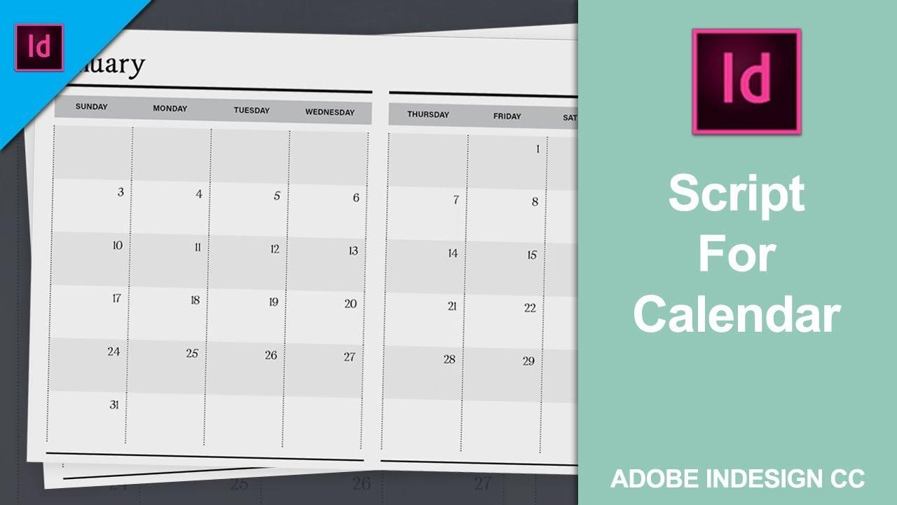 [%Add Or Install Script For Calendar In Adobe Indesign Cc 2018 [Link In The  Description]|Calendar Wizard Indesign 2021|Calendar Wizard Indesign 2021%]