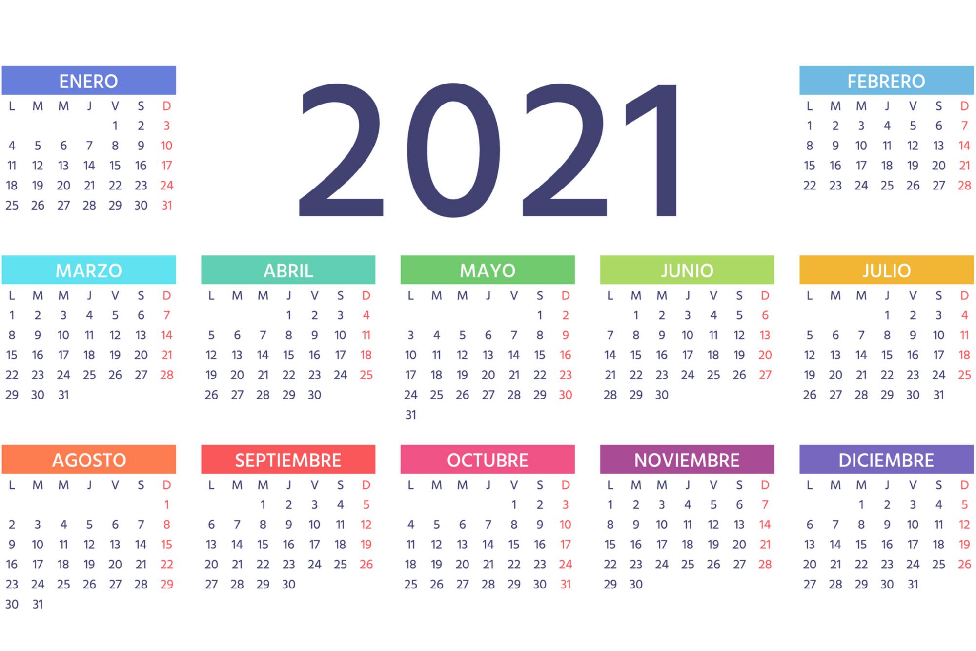 Caendario Juliano 2021