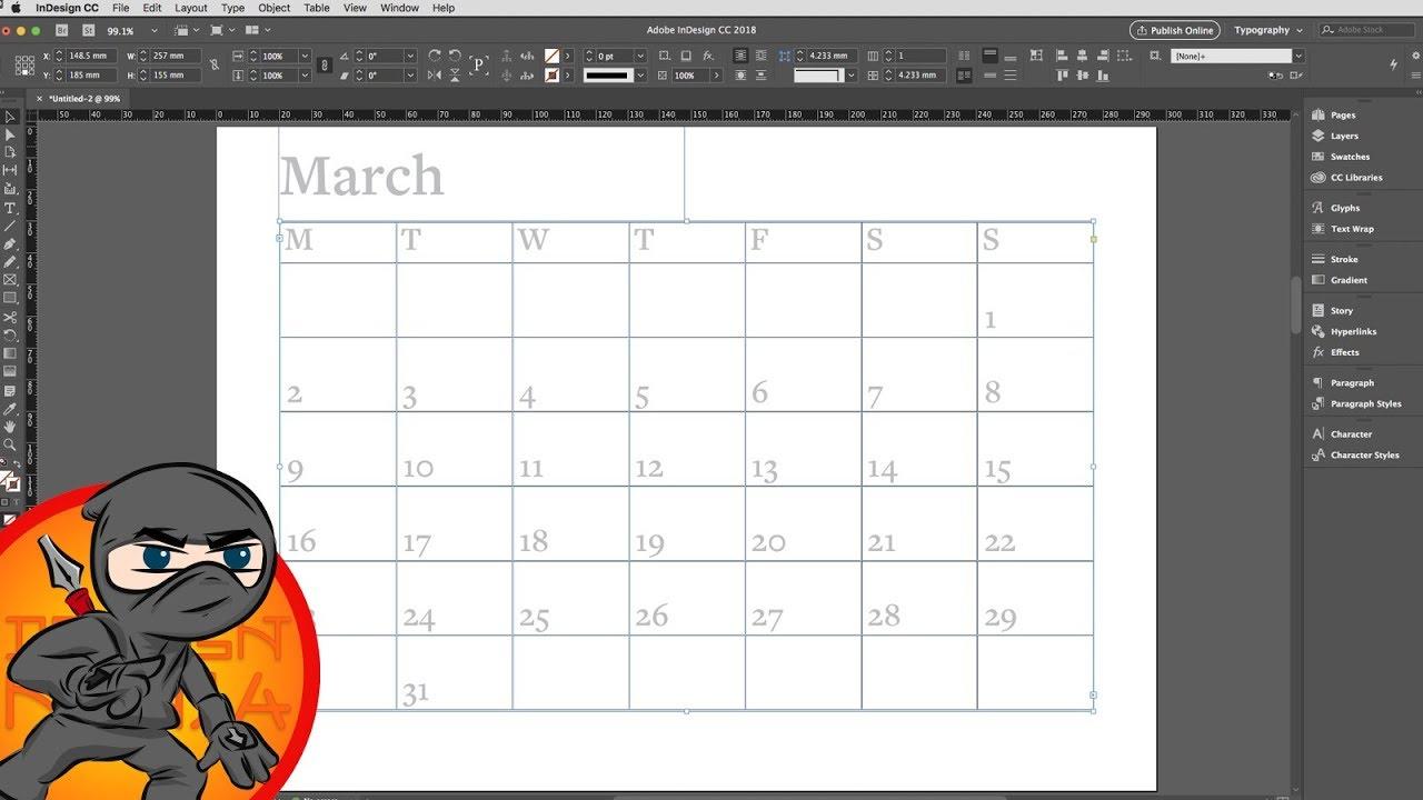 Calendar Wizard Indesign 2021