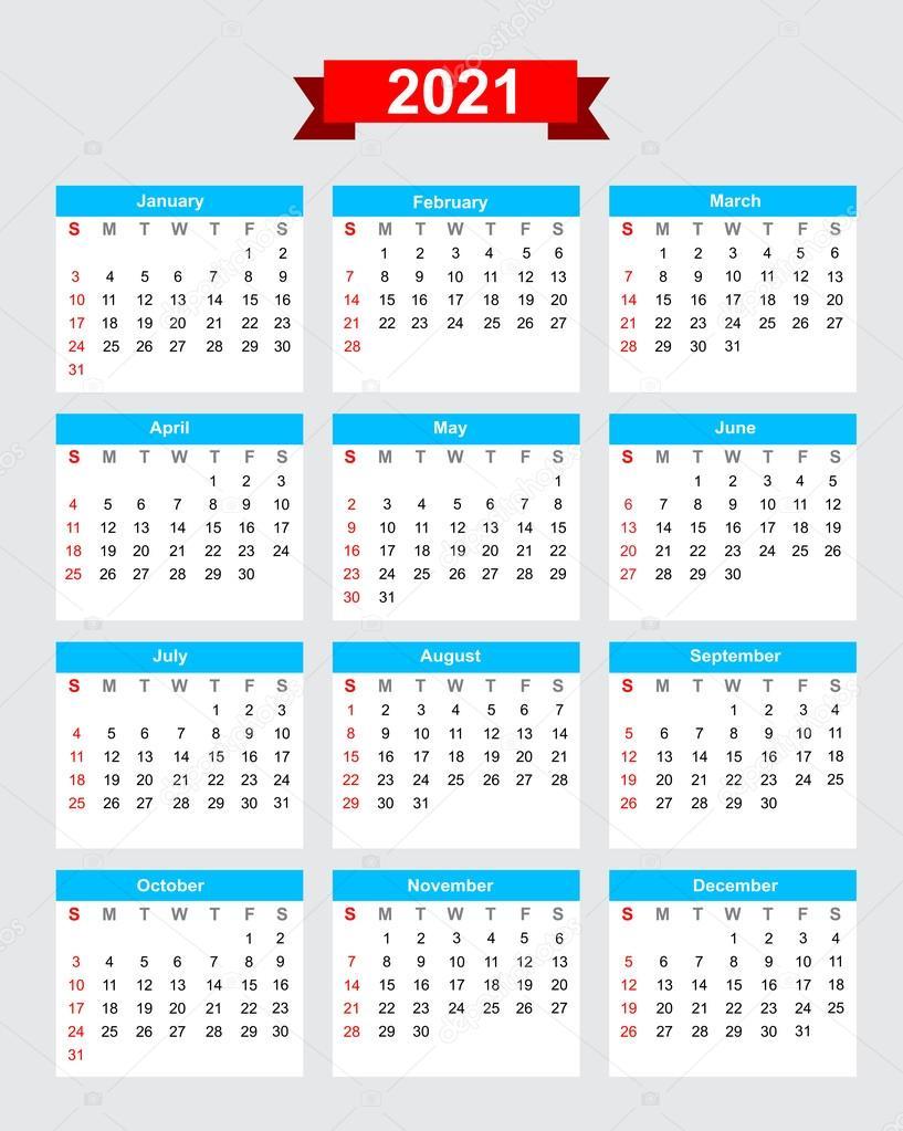 Calendario 2021 Por Semanas