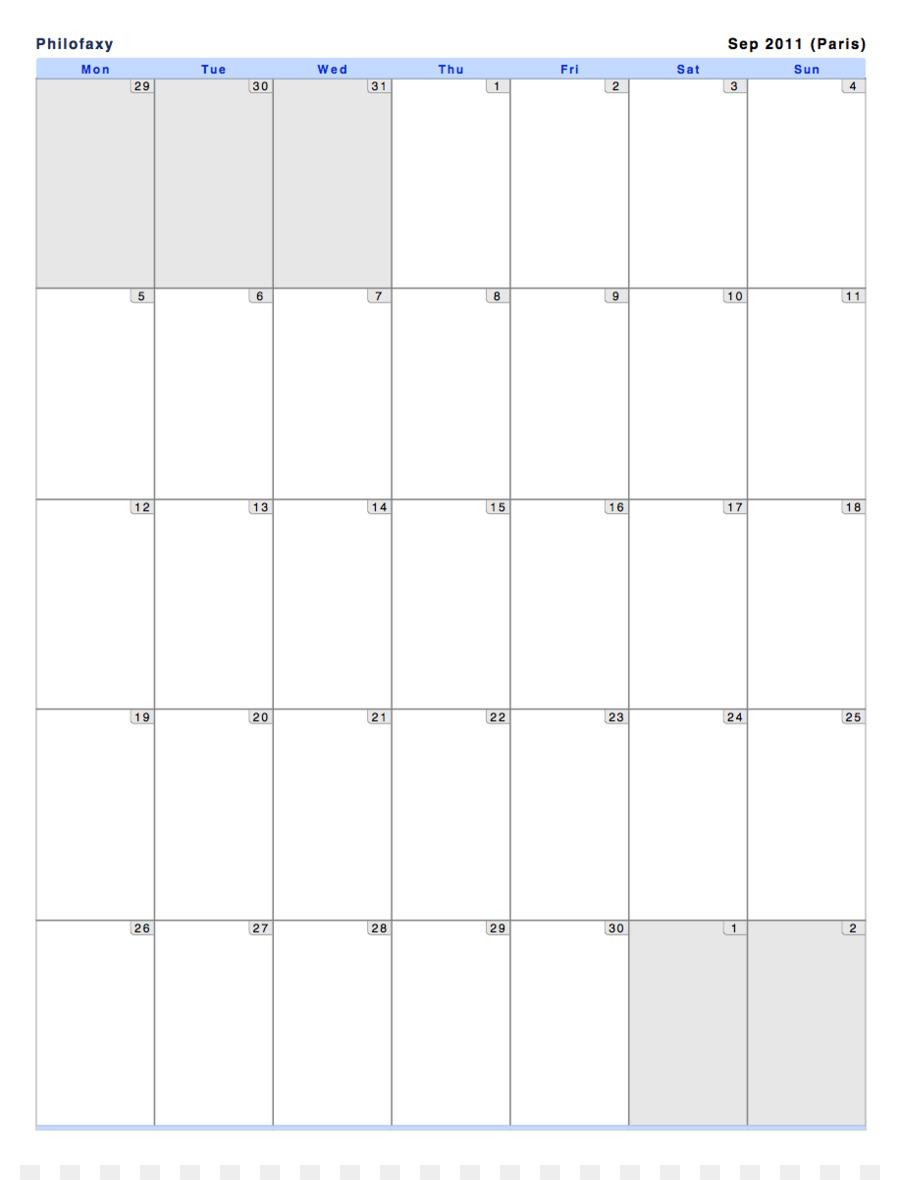 Calendario, Mes, Diseño De Página Imagen Png - Imagen