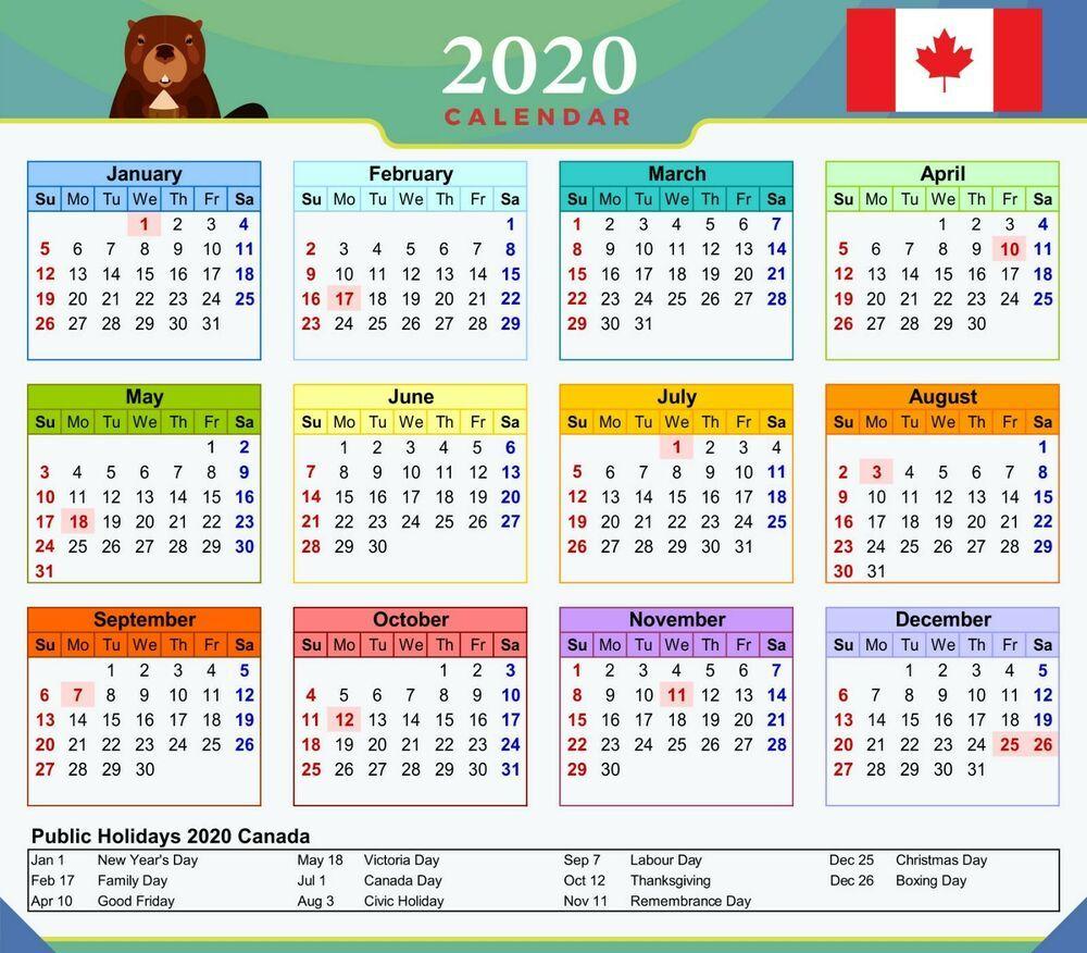 Canada Statutory Holidays 2021
