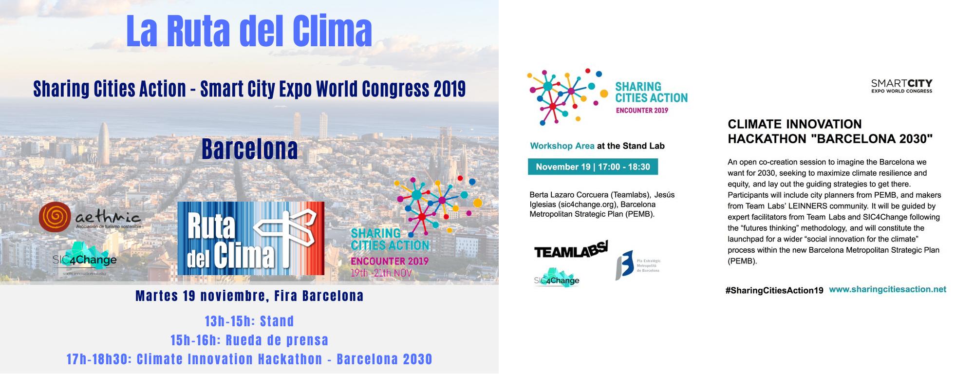 Comienza La Ruta Del Clima En Barcelona: 2019 Sharing Cities