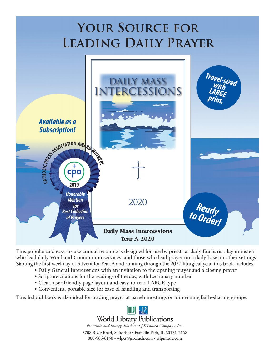 Daily Mass Intercessions 2021