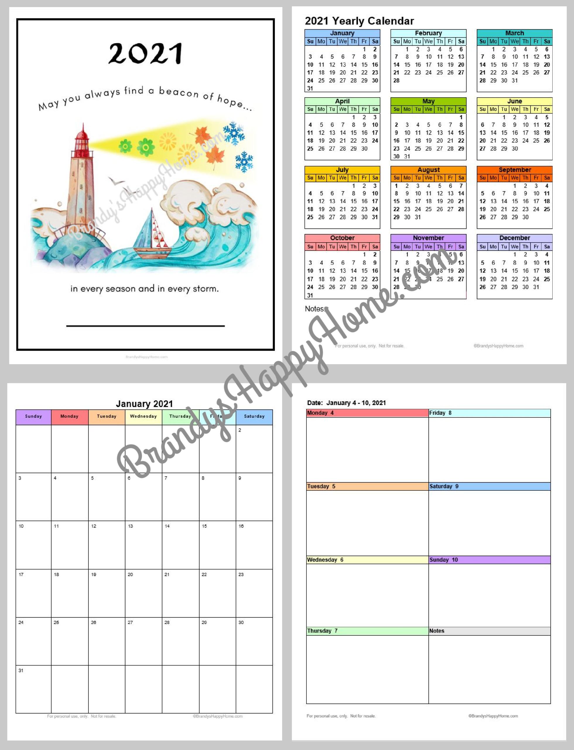 Depo Calendar 2021 Printable