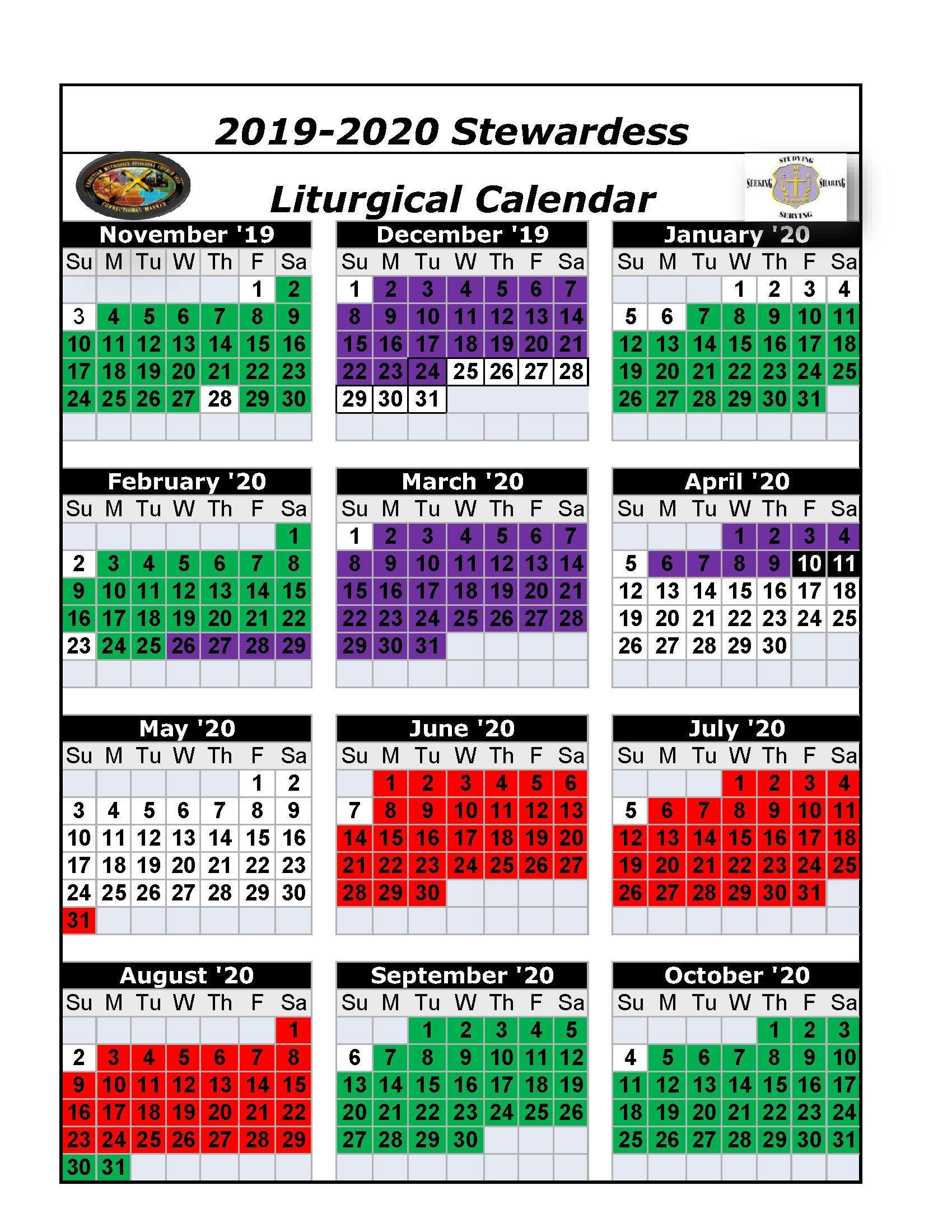 Downloadable Umc Liturgical Calendar 2020