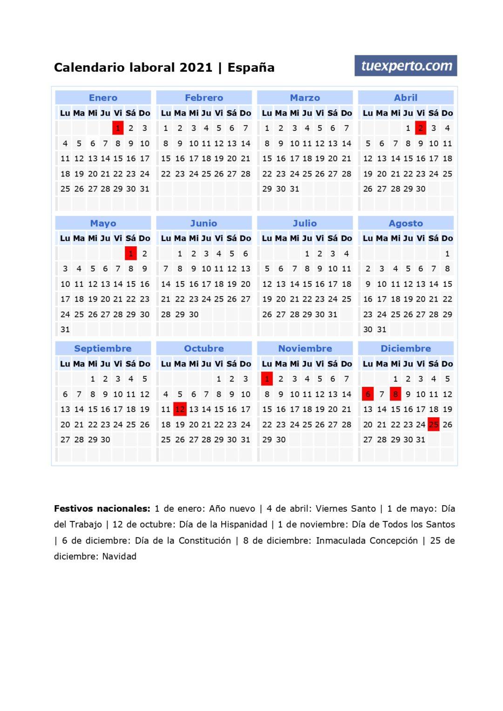 ▷ Calendario 2021, +100 Plantillas Para Descargar, Editar E