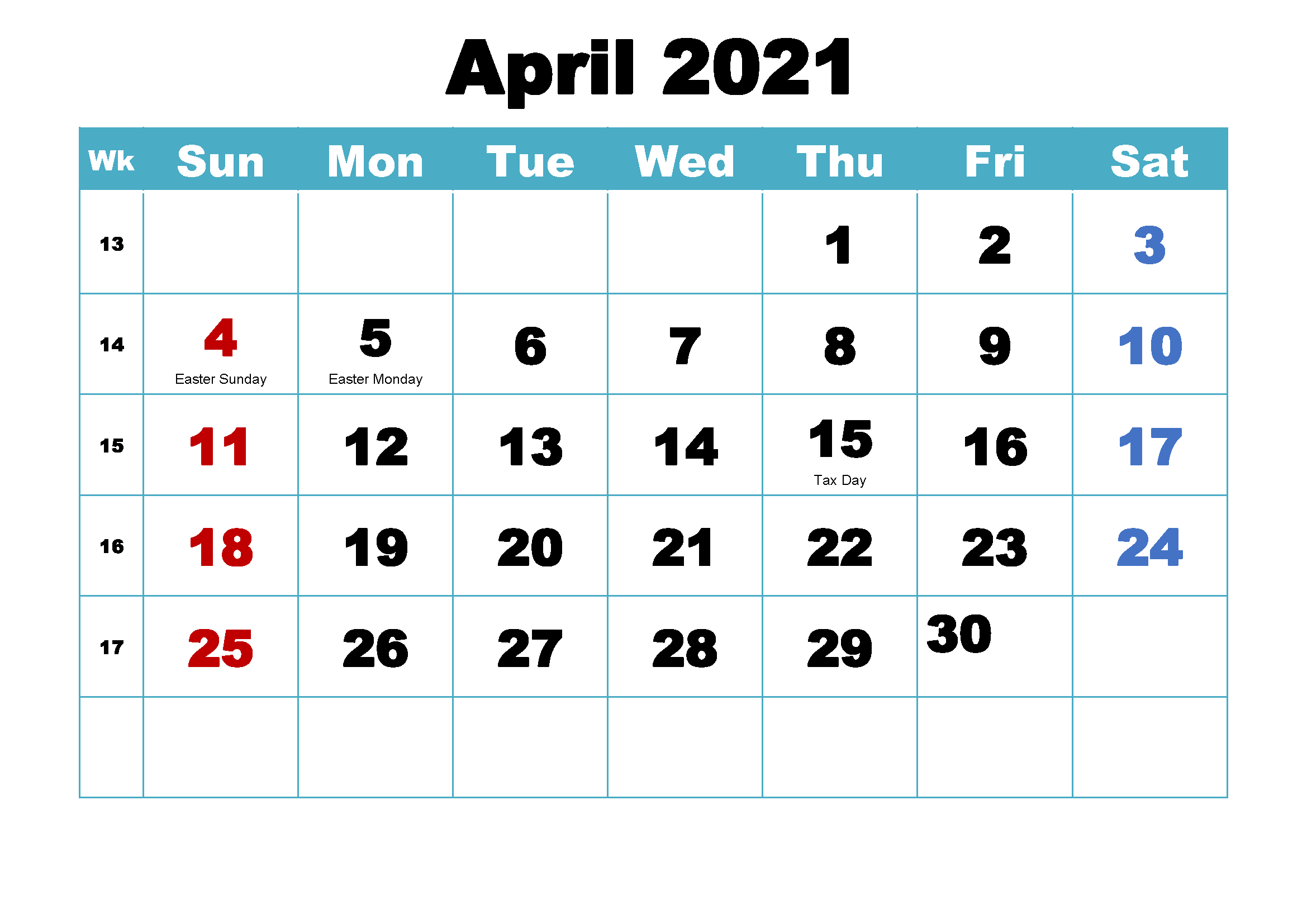 [%Free April 2021 Printable Calendar Template [Pdf] | Calendar|April 2021 Calendar|April 2021 Calendar%]