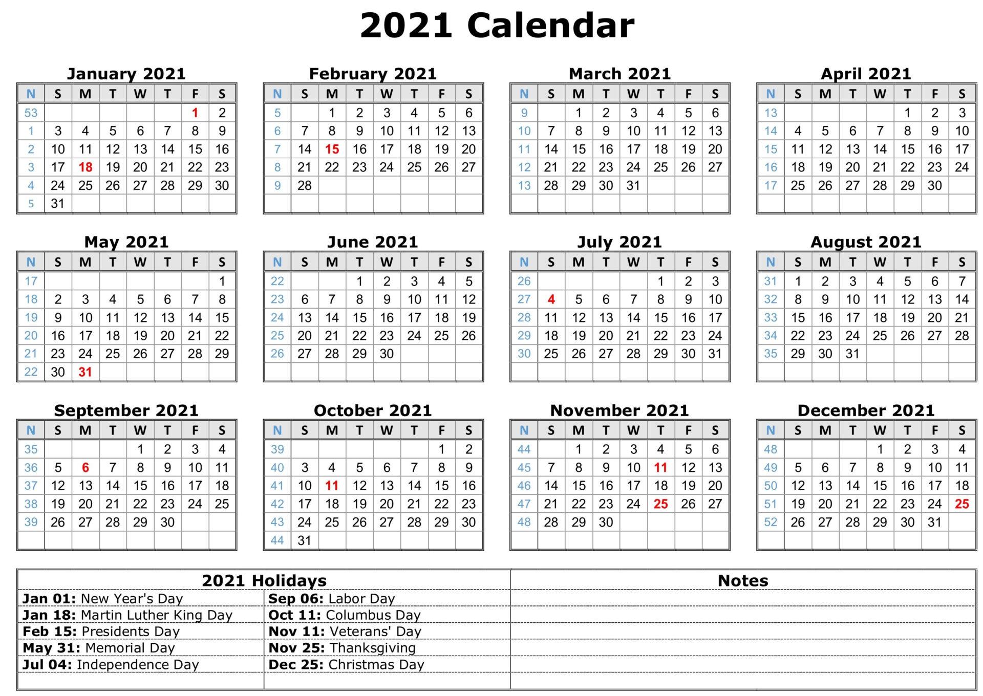 Free Calendar Template