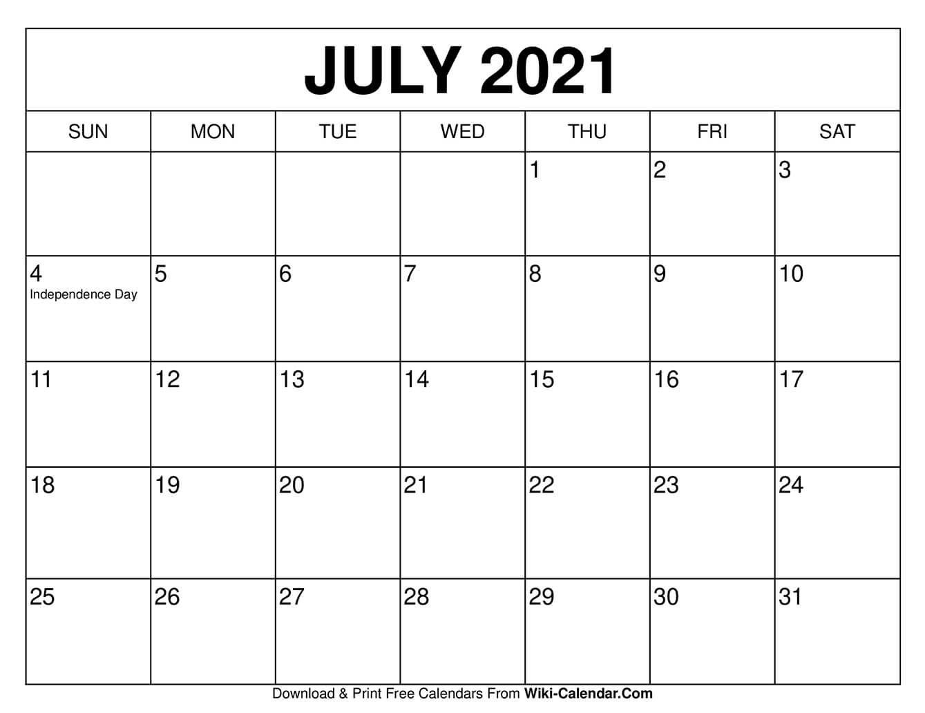 Free Calendars To Print, Free Calendar