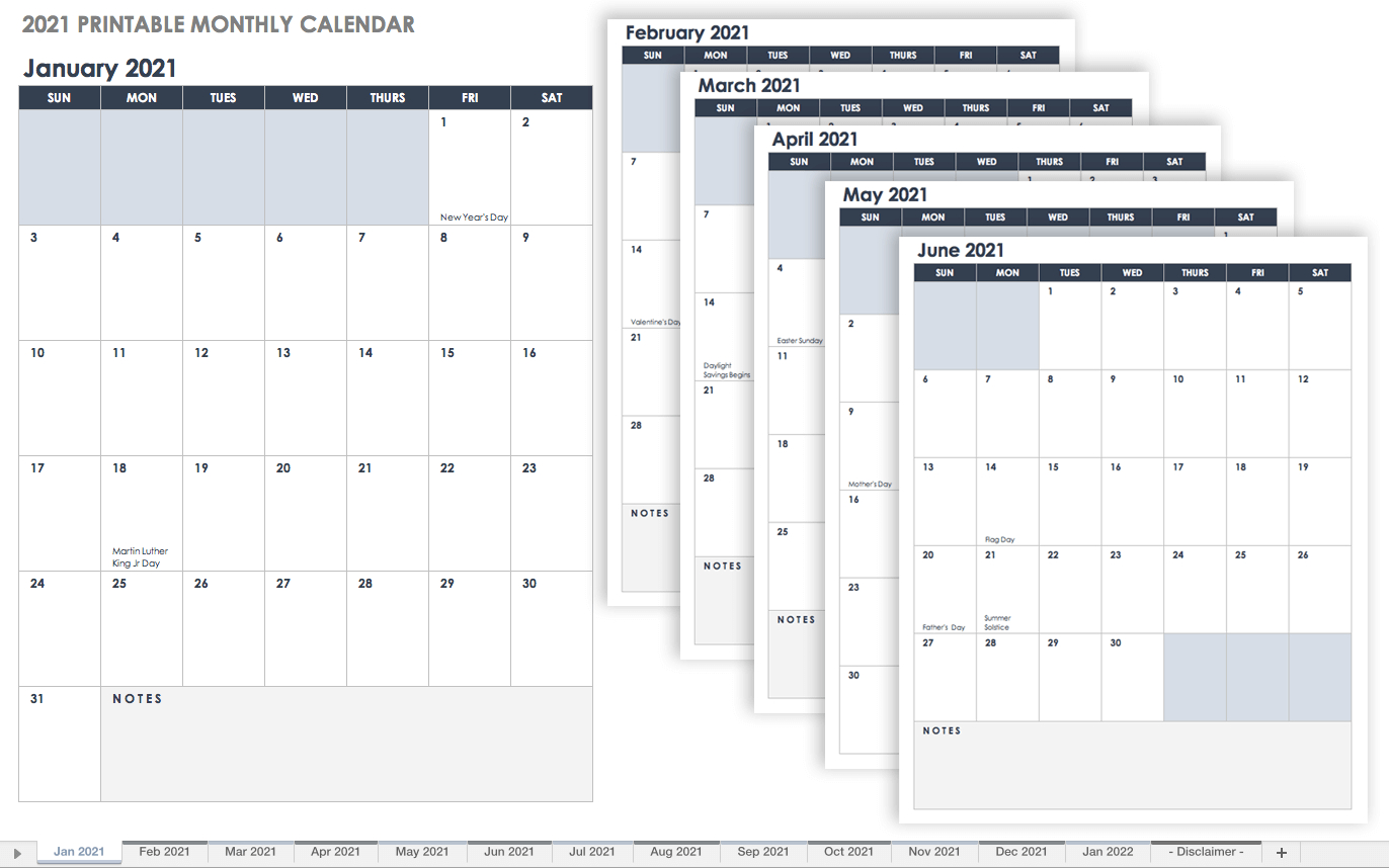 Free Google Calendar Templates
