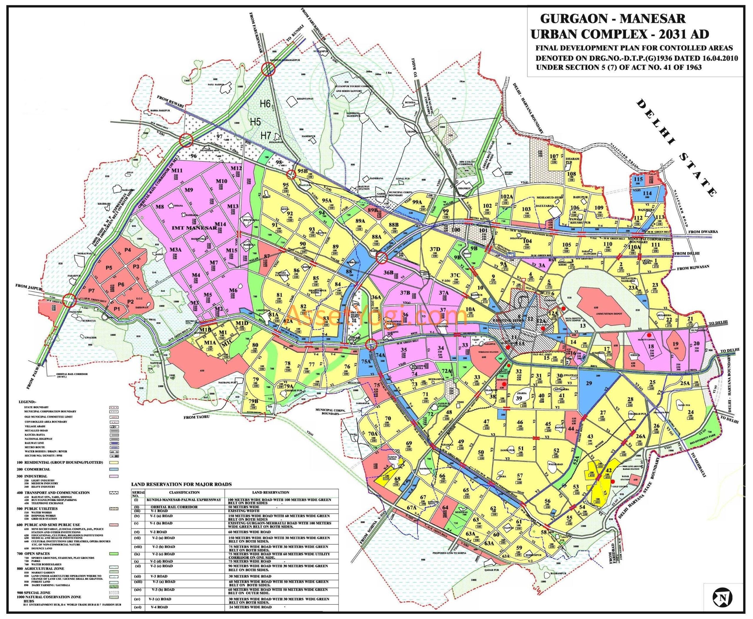 Gurgaon Master Plan 2031, 2025 & 2021 - Map, Summary & Download!