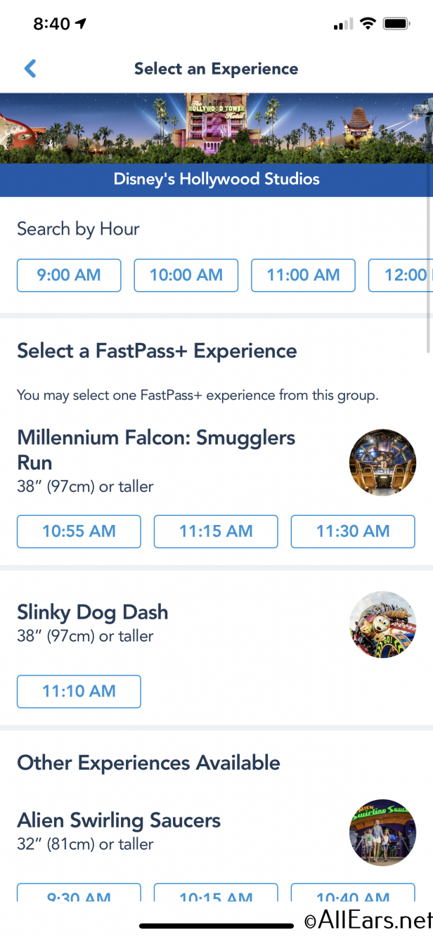Hollywood Studios News: You Can Now Book Fastpass+ For