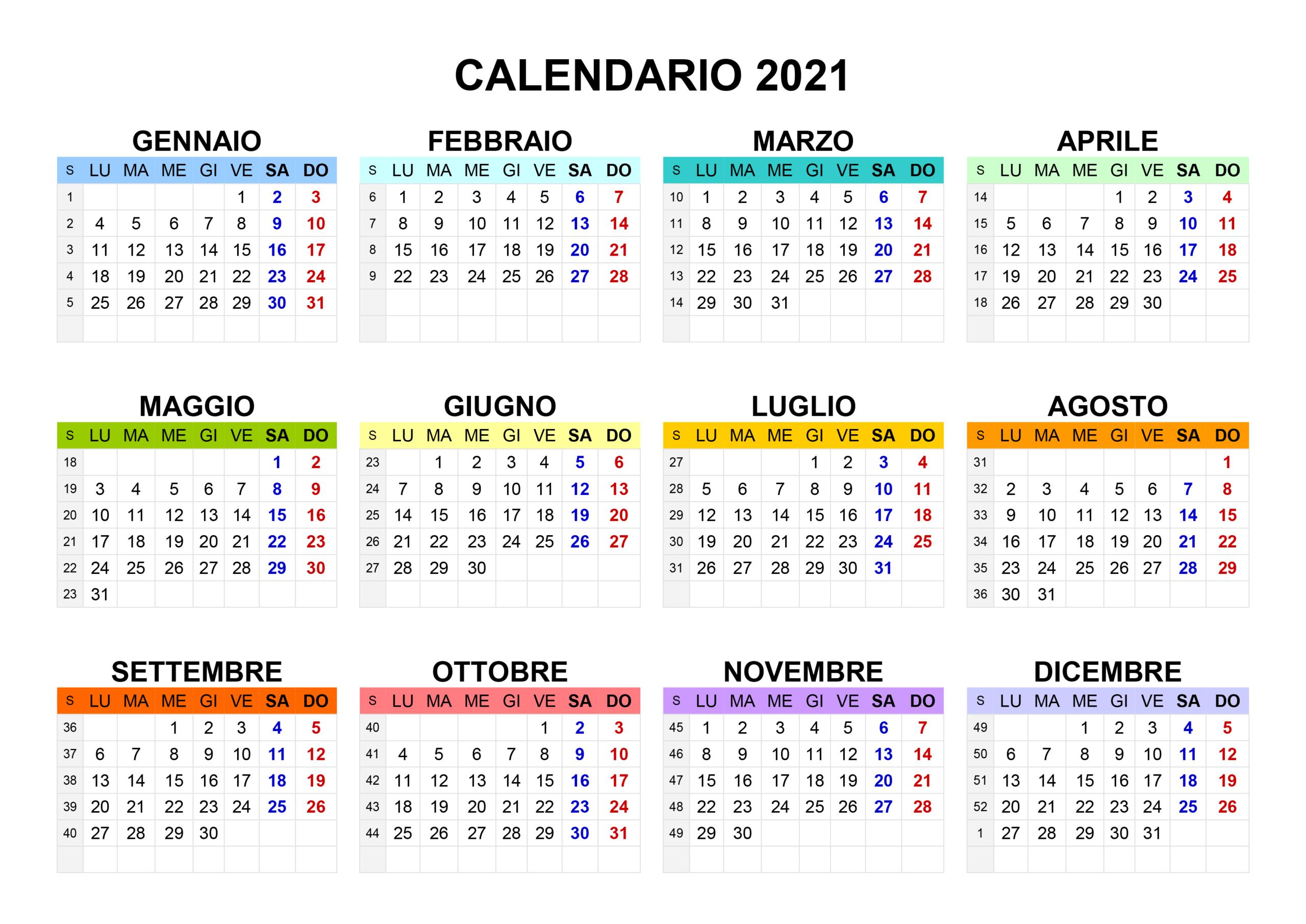 Immagini Calendario 2021 – Immagini