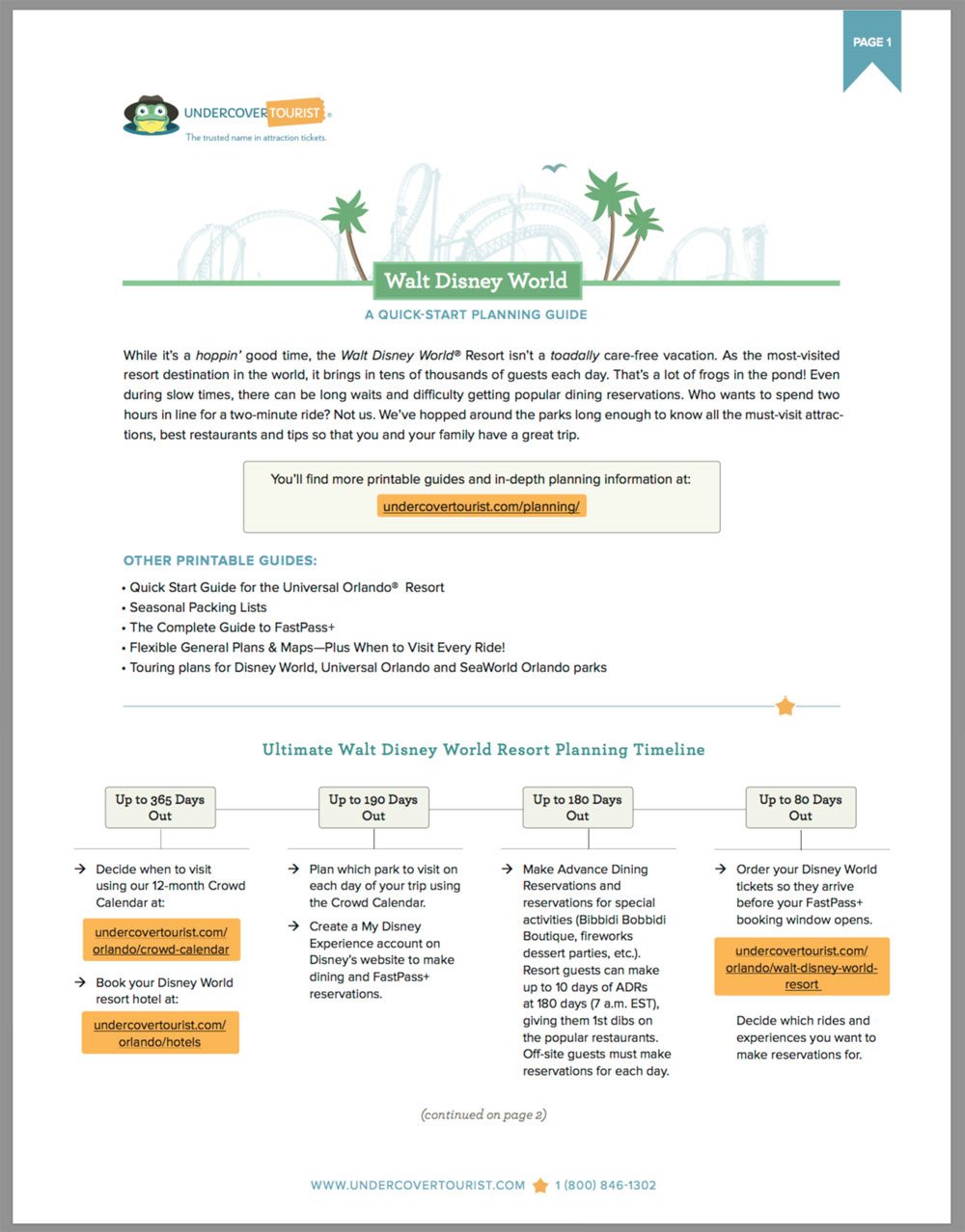 Introducing Our Quick-Start Guides To Disney World & Universal