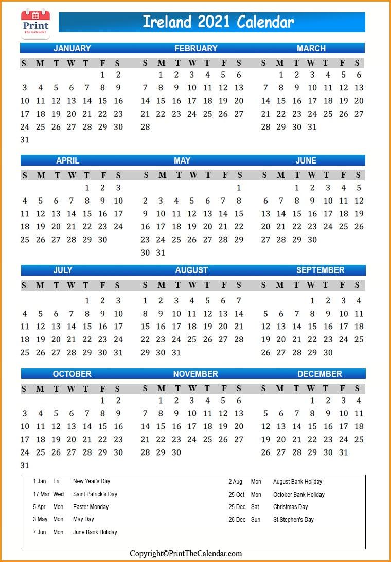 [%Ireland Holidays 2021 [2021 Calendar With Ireland Holidays]|2021 Calendar Printable With Holidays And School Terms|2021 Calendar Printable With Holidays And School Terms%]