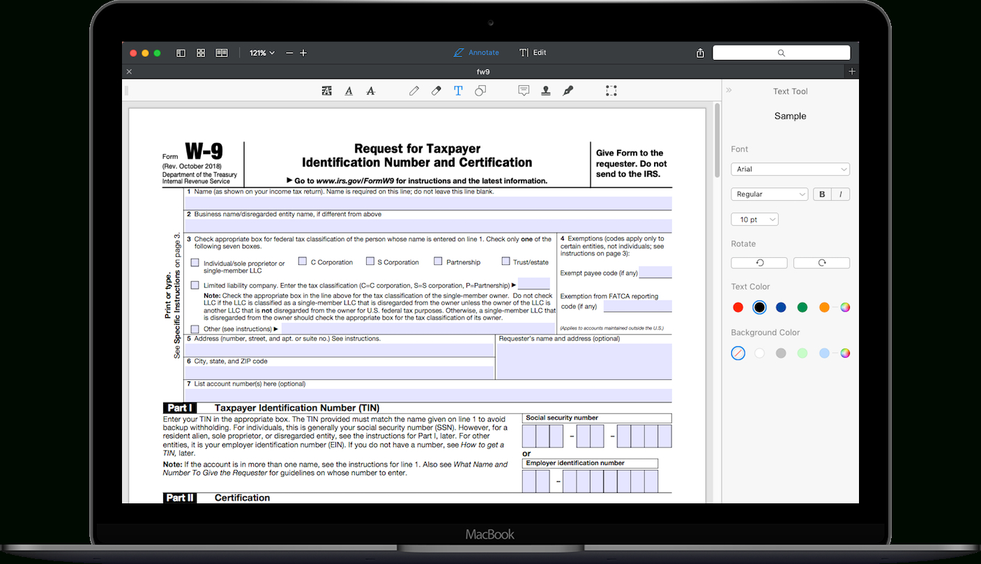 Irs W-9 Form 2021 Printable Pdf