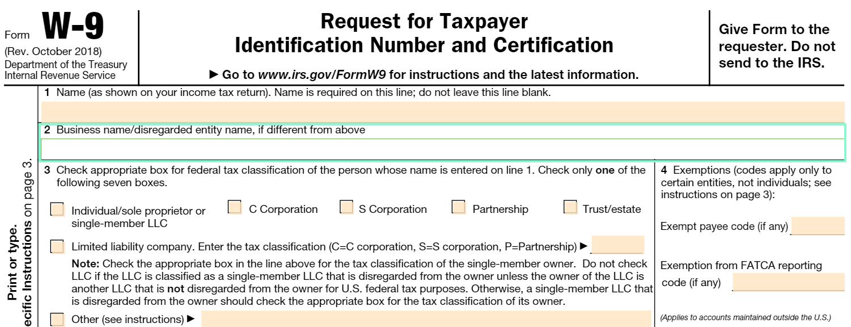 Irs W 9 Form Printable 2021