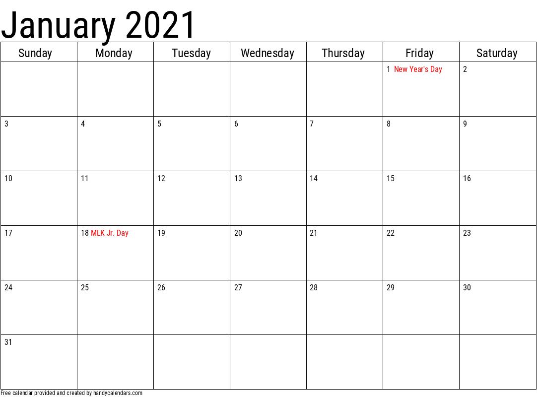 Jan Calendar 2021 Yearly!!