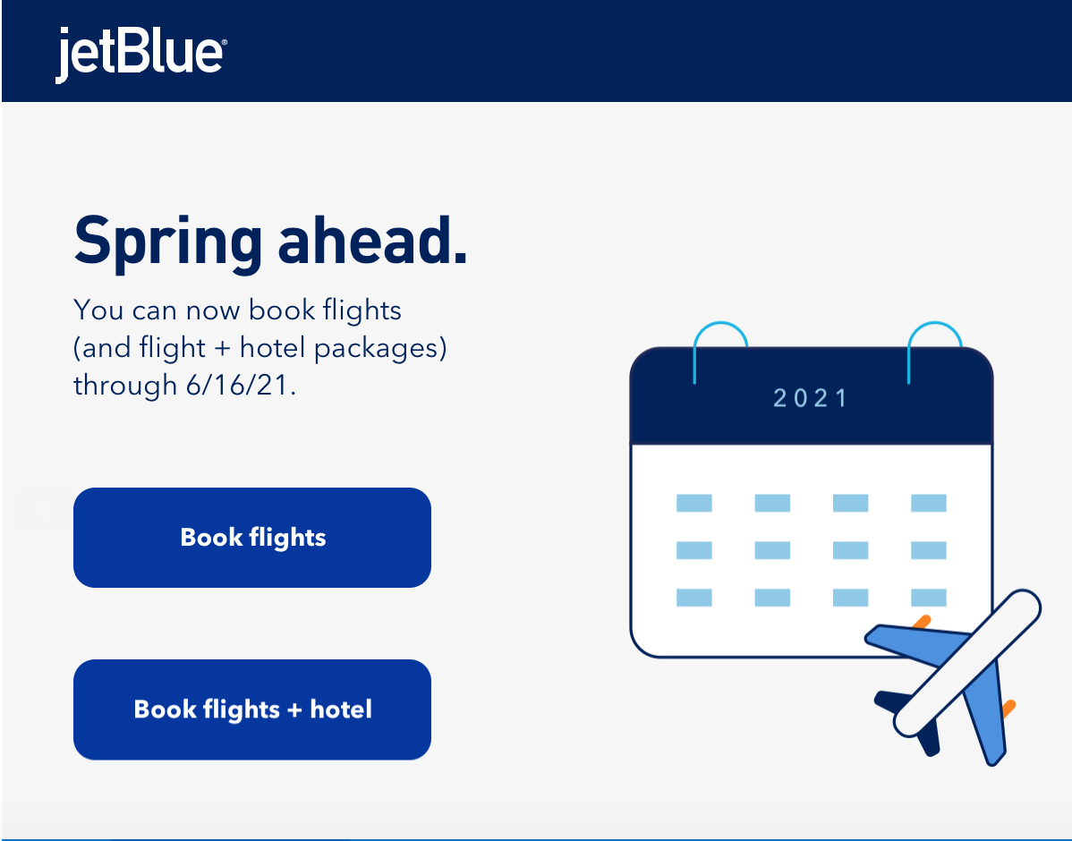 Jetblue Extends Schedule Into Spring 2021 - Deals We Like