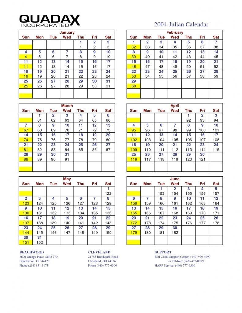Julian Date Calendar For 2018 - Rent.interpretomics.co Free