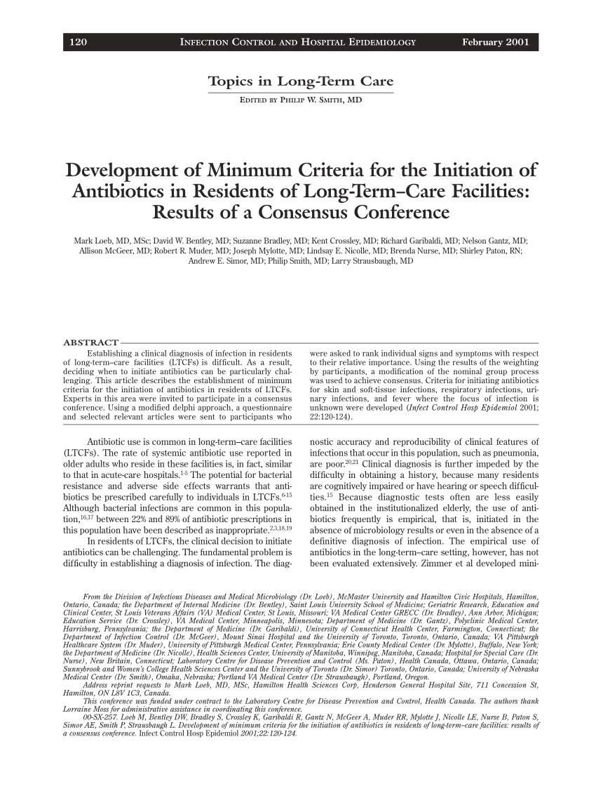 Pdf) Development Of Minimum Criteria For The Initiation Of
