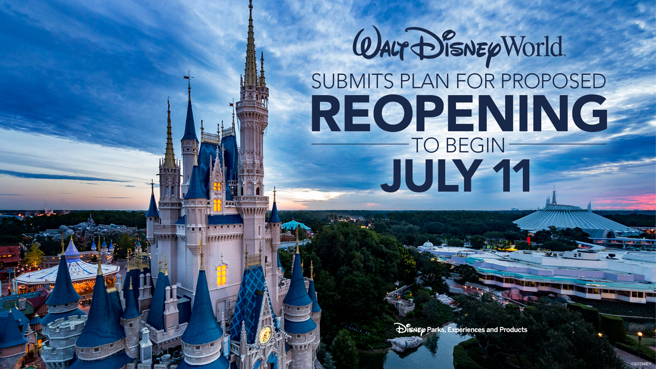 Plans Unveiled For The Phased Reopening Of Walt Disney World