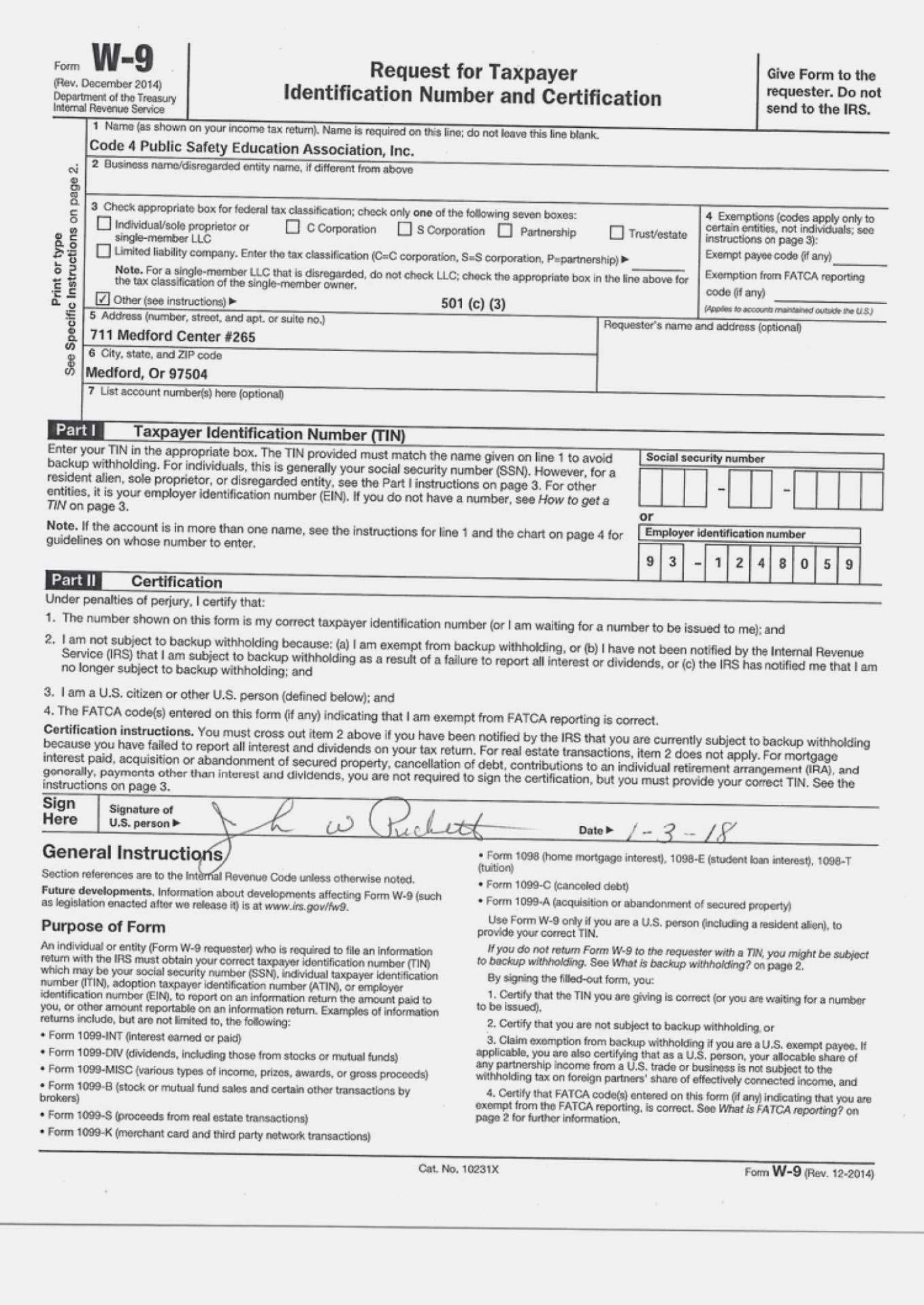 Print W9 Form 2021