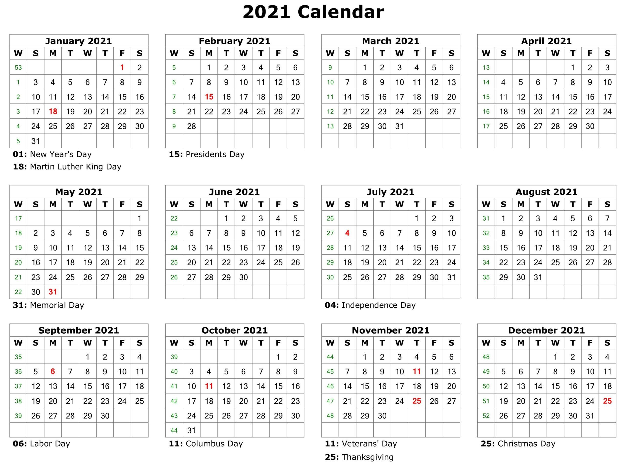 Printable Calendar Pdf, Free