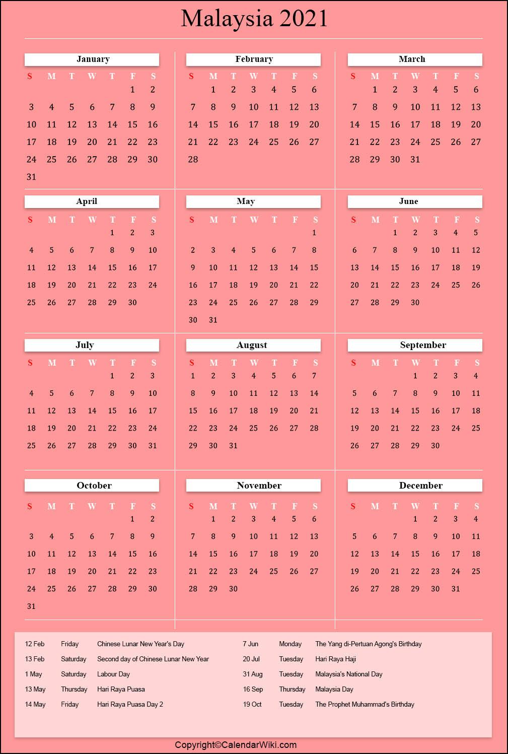 [%Printable Malaysia Calendar 2021 With Holidays [Public Holidays]|2021 Calendar Printable With Holidays And School Terms|2021 Calendar Printable With Holidays And School Terms%]