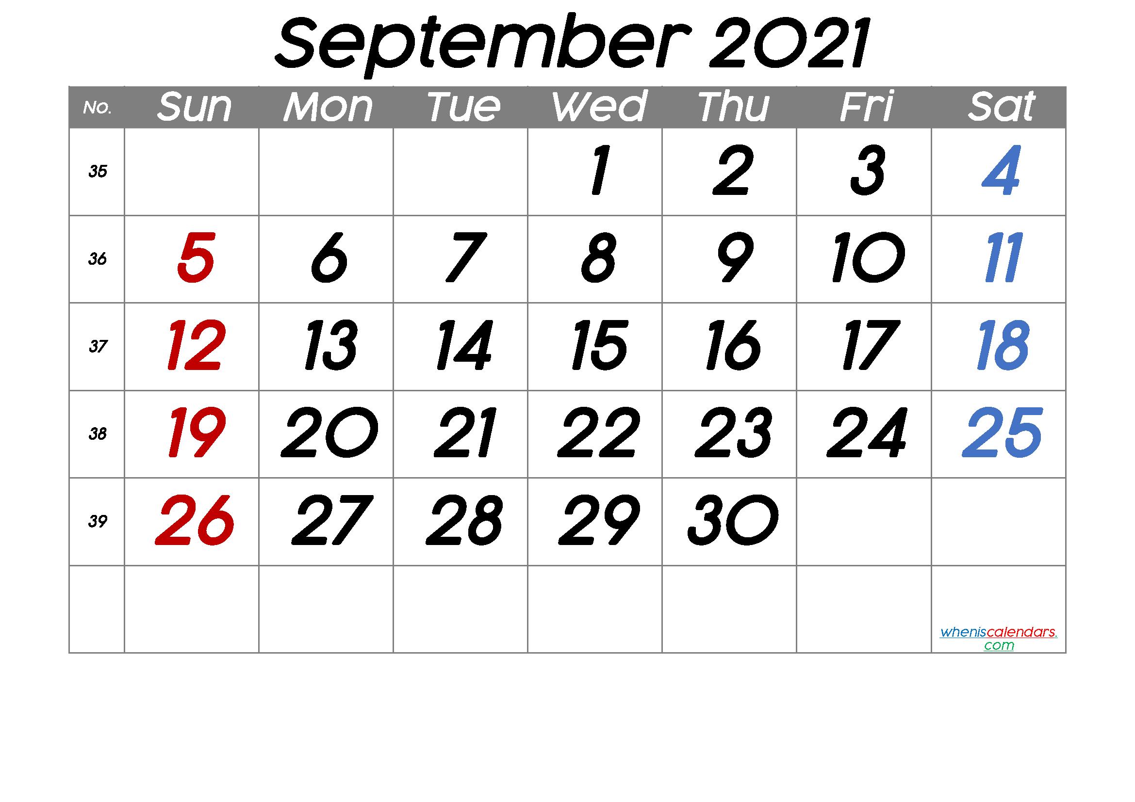 [%Printable September 2021 Calendar [Free Premium] In 2020|Printable I 9 Form Print 2021|Printable I 9 Form Print 2021%]