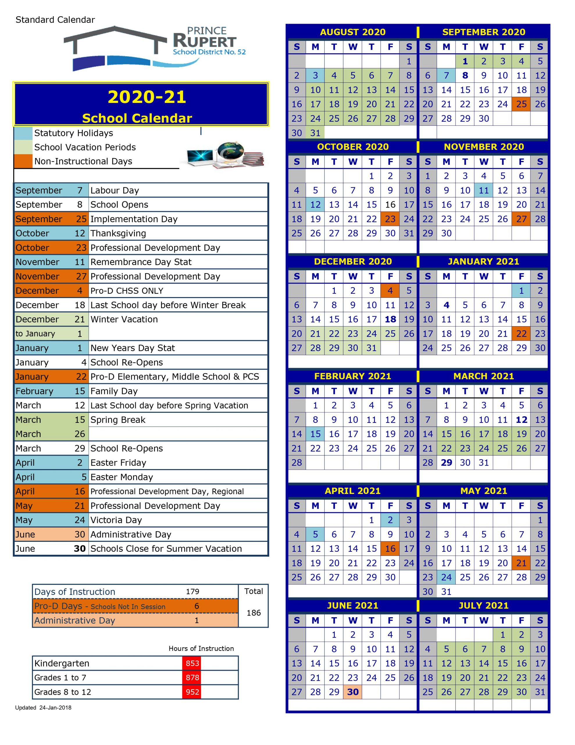 School District 52 Prince Rupert Calendar 2020 And 2021
