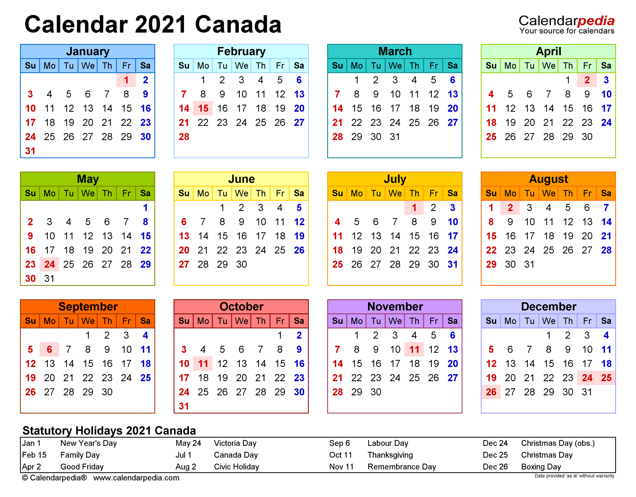 Stat Holidays In Bc 2021