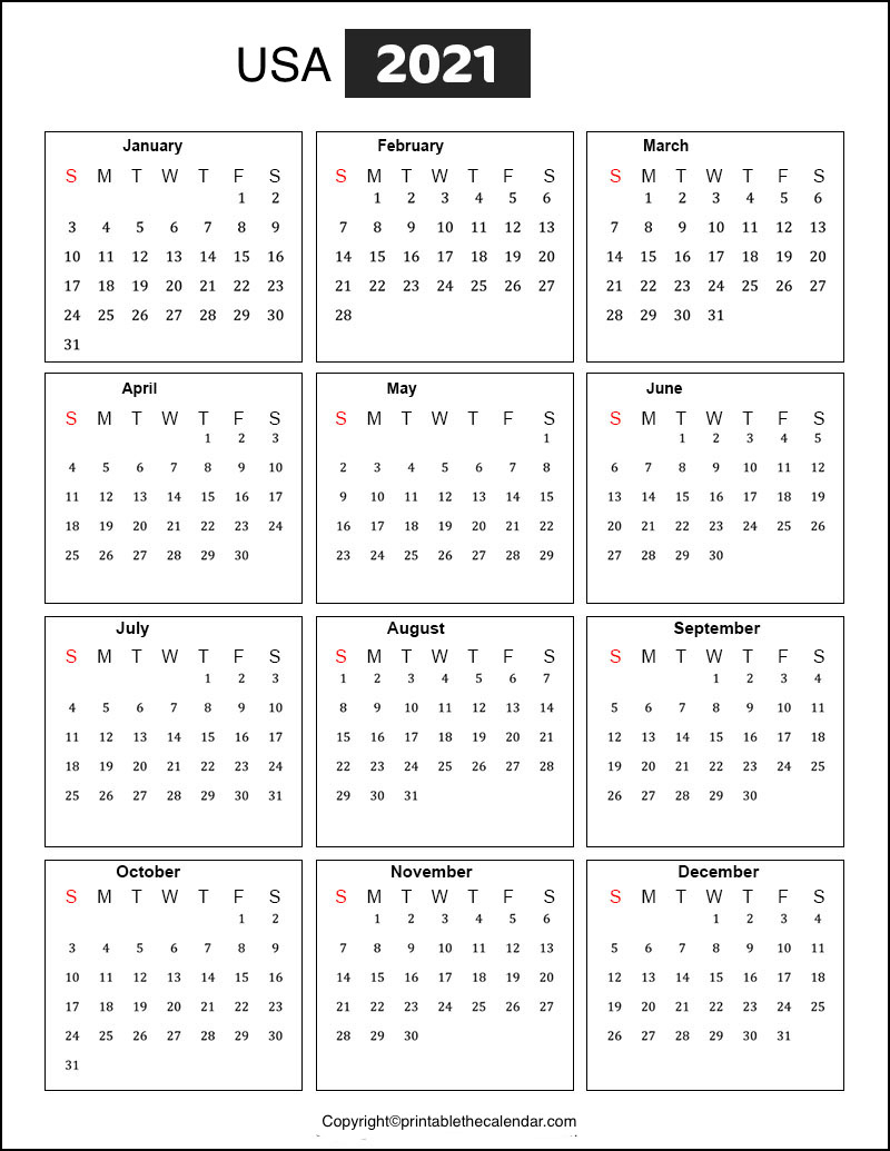 [%Usa Calendar 2021 With Holidays [Free Printable Template|2021 Calendar With Us Holidays|2021 Calendar With Us Holidays%]