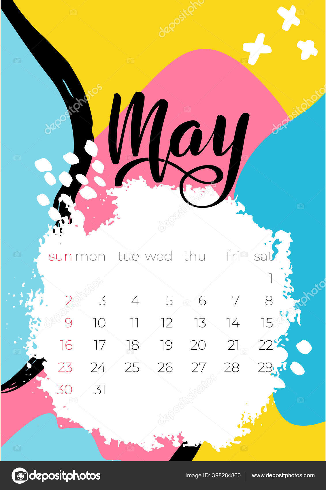 Vector Illustration May Calendar 2021 For Concept Design 398284860