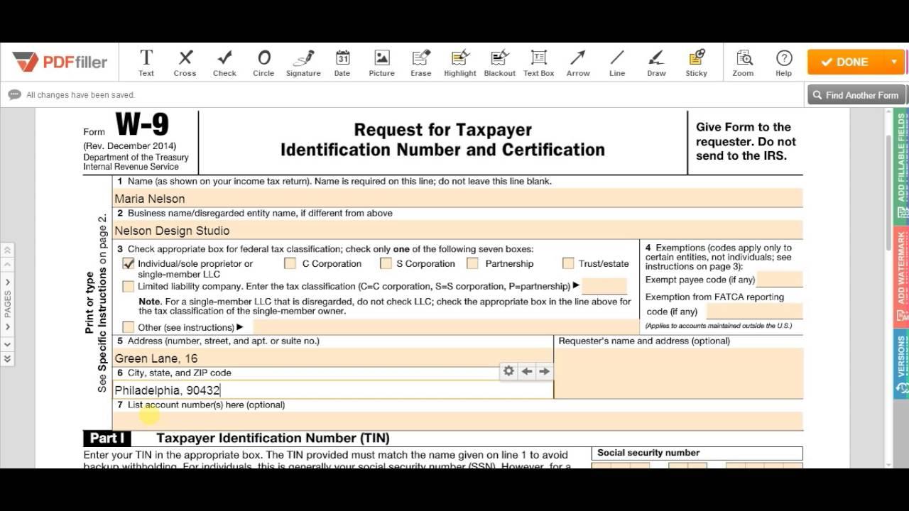 W-9 2021 Printable Form