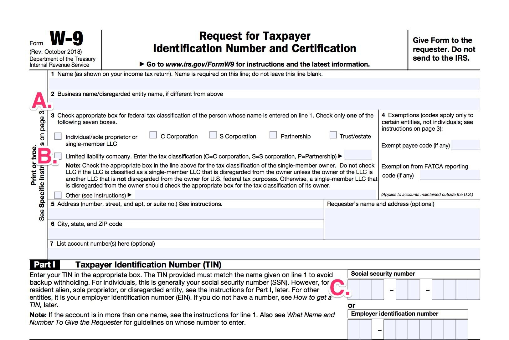 W9 Forms 2021 Printable Free Irs