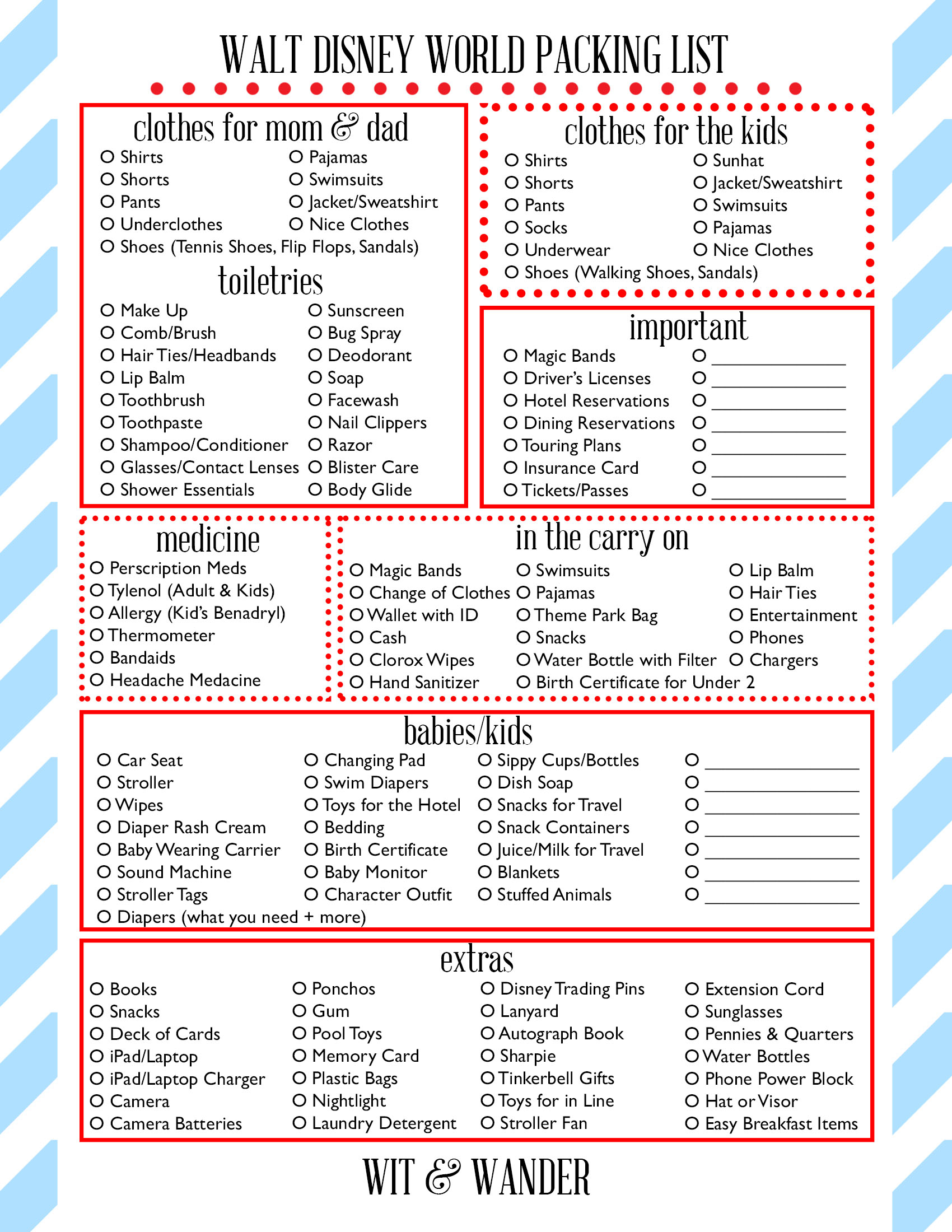 Walt Disney World Free Printables - Our Handcrafted Life