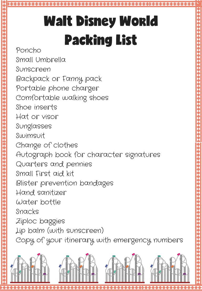 Walt Disney World Packing List - Stockpiling Moms™