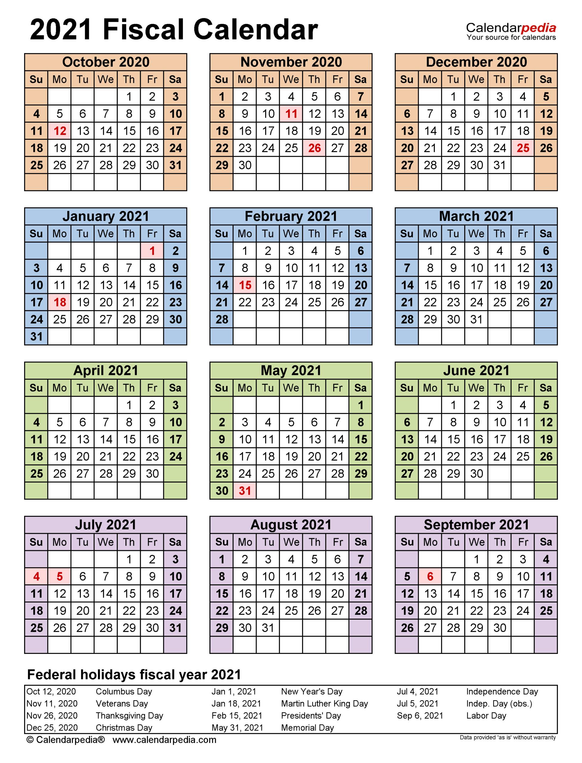 2021 Government Calendars