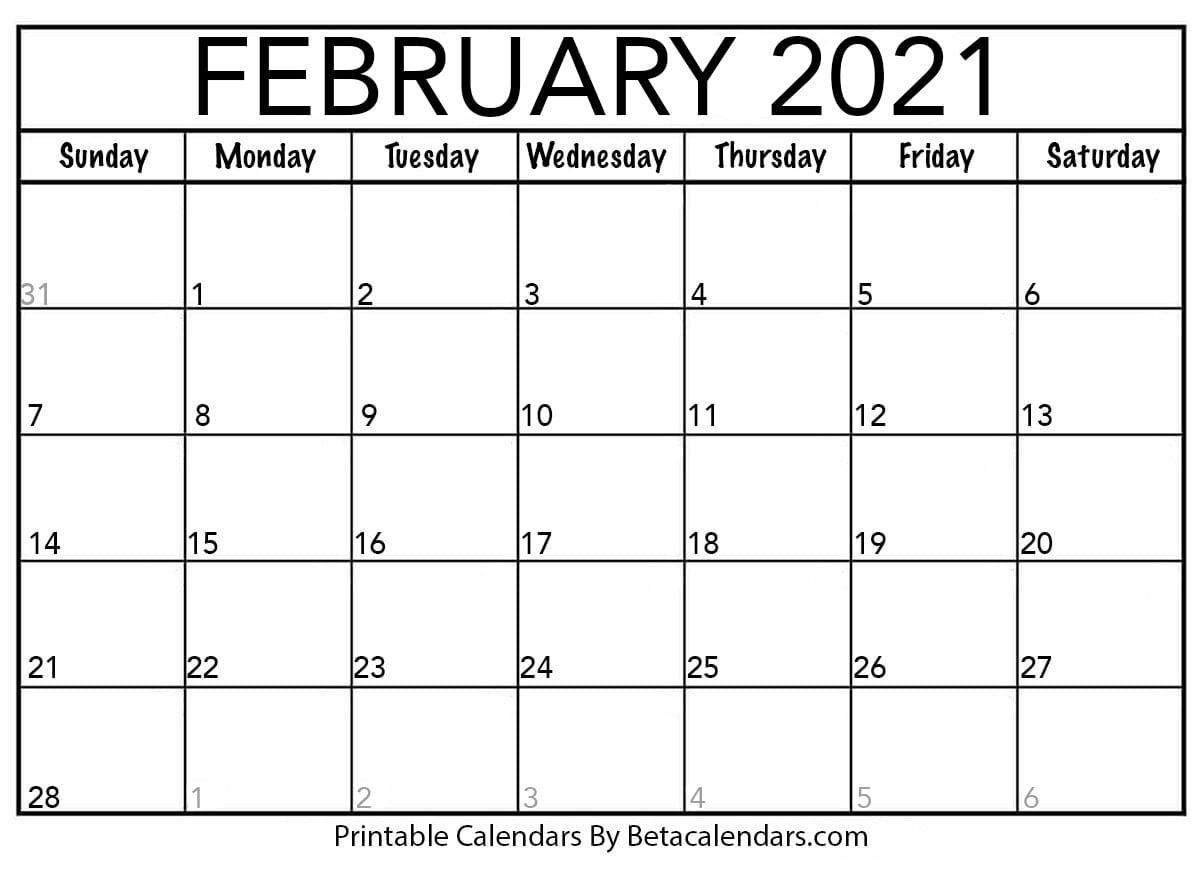 Blank Printable Monthly Calendars