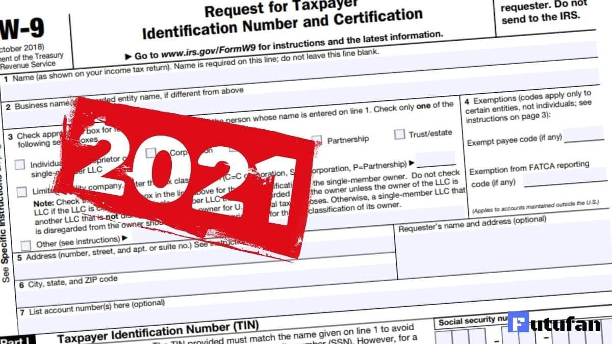 Blank W 9 Form 2021 Printable Irs