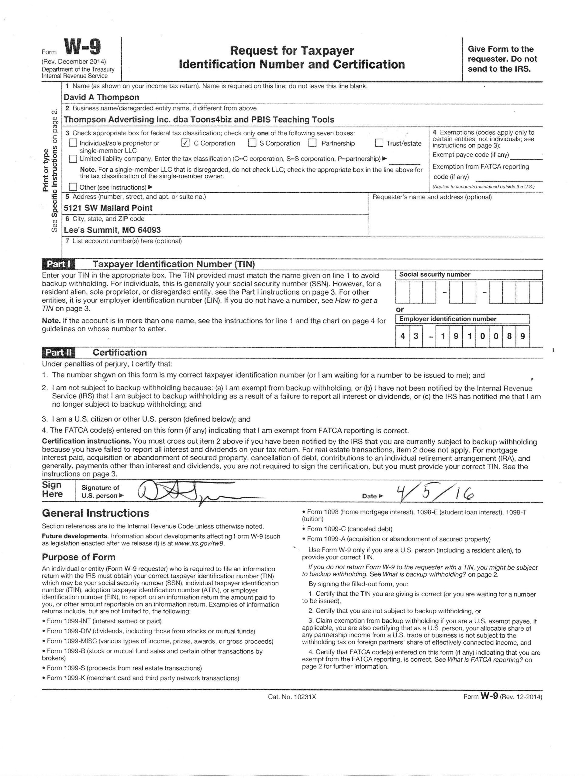 Blank W 9 Form 2021 Printable Irs