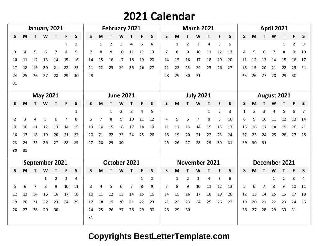 Calendar 2021 Tumblr Free